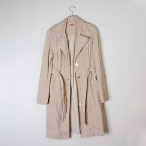 GUESS Jeans Tan Trench Coat